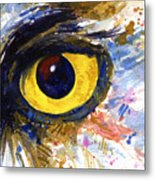 Eyes Of Owl's No.6 Metal Print