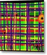 Eyes On The Grid Metal Print