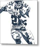 Ezekiel Elliott Dallas Cowboys Pixel Art 3 Metal Print
