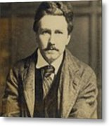 Ezra Pound 1885-1972, In The 1920s Metal Print by Everett