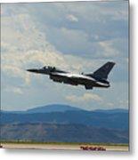 F-16 Tower Metal Print