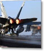 F 18 Hornet-aircraftcarriers Metal Print