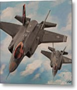 F-35's On Assignment  Metal Print