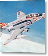 F-4b Phantom II Of Vf-111 Metal Print