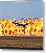 F-86 Wall Of Fire Metal Print