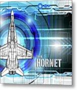 F/a-18 Hornet Metal Print