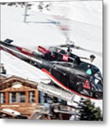 F-gsdg Eurocopter As350 Helicopter Courchevel Metal Print