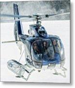F-hana Eurocopter Ec-130 Helicopter Landing Metal Print