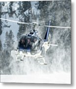 F-hana Eurocopter Ec-130 Landing Helicopter At Courchevel Metal Print