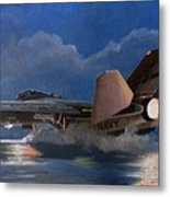 F14 Carrier Launch Metal Print