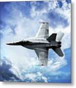 F18 Fighter Jet Metal Print by Aaron Berg