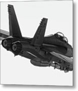 Fa-18 In Black And White Metal Print