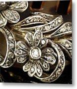 Faberge Diamond Hair Comb Detail Metal Print