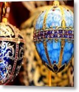 Faberge Holiday Eggs Metal Print