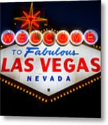 Fabulous Las Vegas Sign Metal Print