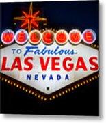 Fabulous Las Vegas Sign Metal Print