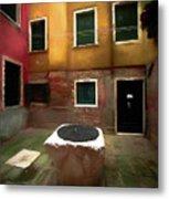Facade Of Venice V1  Metal Print