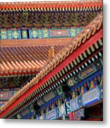 Facade Painting Inside The Forbidden City In Beijing Metal Print