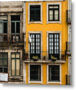 Facades Of Porto Metal Print