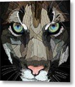 Face De Puma Metal Print