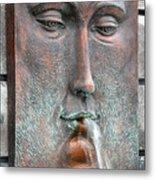 Face Fountain - Riviera Maya Mexico Metal Print