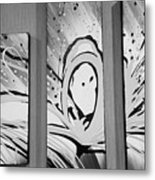 Face In Space B G I Metal Print