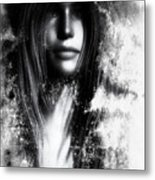 Face In The Mirror Metal Print