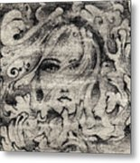 Face In The Storm Metal Print