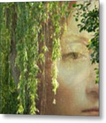 Face In The Willows Metal Print