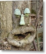 Face In The Woods Metal Print