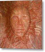 Face In Wall Metal Print