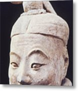 Face Of A Terracotta Warrior Metal Print