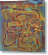 Face Of Colors Metal Print