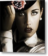 Face Of Dark Fashion Metal Print