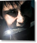 Face Of Fear And Danger Metal Print