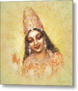 Face Of The Goddess - Lalitha Devi - Without Frame Metal Print