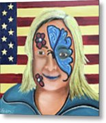 Face Paint And Freedom Metal Print