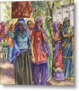 Faces From Across The World Metal Print