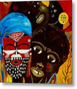 Faces Of Africa Metal Print