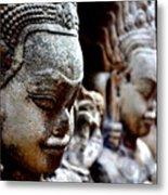 Faces Of Angkor Metal Print