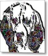 Faces Of Life 37 Beagle Color Metal Print