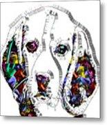 Faces Of Life 37 Beagle Metal Print
