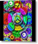 Faces Of Time 1 Metal Print