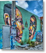 Faces On The Wall Metal Print