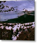 Facinating American Landscape   Snow Mountains Mini Lakes Winter Storms Welcome Trips To Nature Metal Print