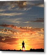 Facing The Sun Metal Print
