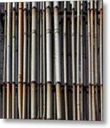 Factory Pipes Metal Print