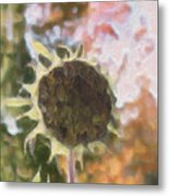 Faded Flower Metal Print