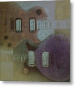 Faded Glory - Les Paul Metal Print