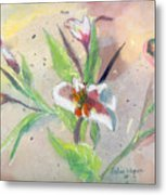 Faded Lilies Metal Print